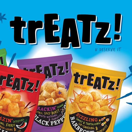 Treatz Potato Chips Packaging - Singapore