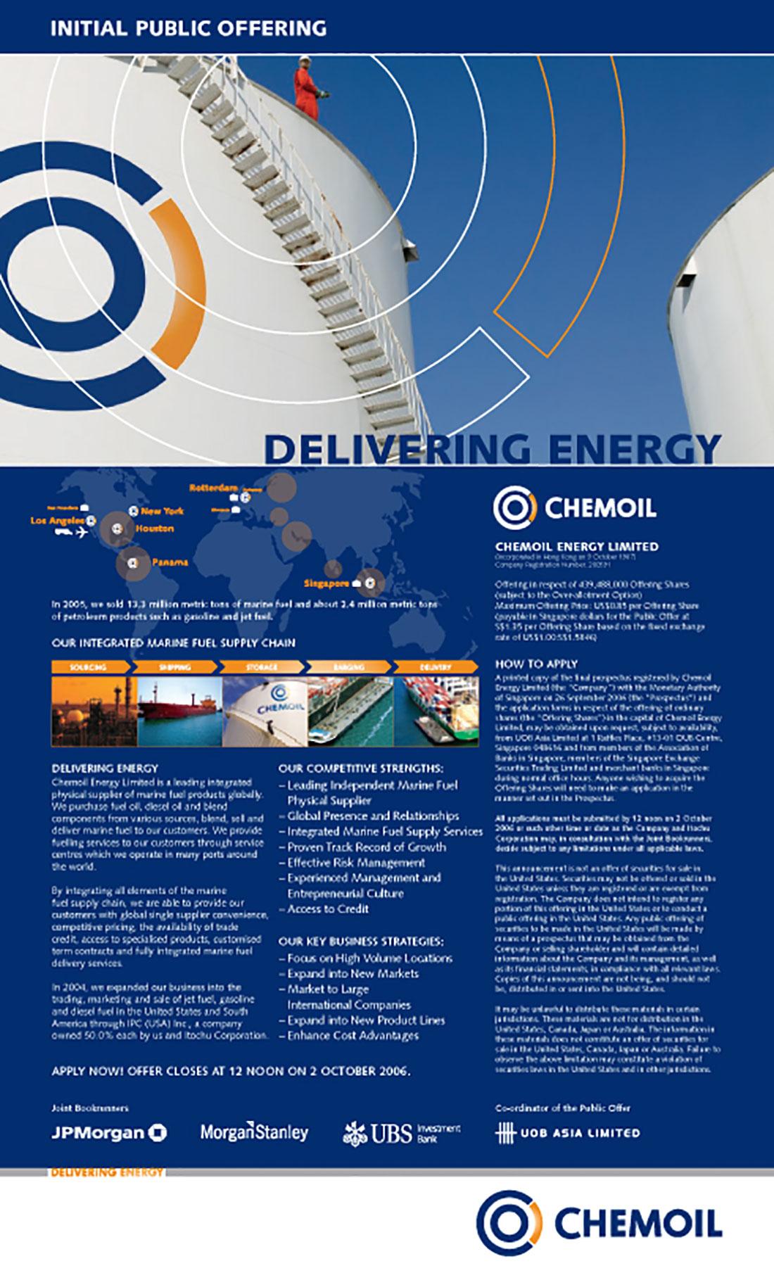 Chemoil Energy Branding - Singapore